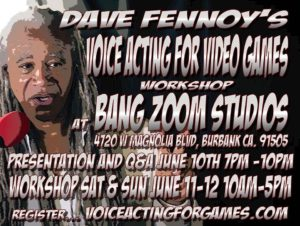 Dave Fennoy's Voice Acting For Video Games Workshop 2016 Los Angeles